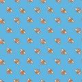 Bee seamless pattern. honey . bee illustration.