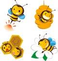 Bee set 2 Royalty Free Stock Photo