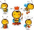Bee set 1 Royalty Free Stock Photo
