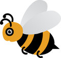 Bee a vector drawing represents design Stock Photography