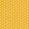 Bee yellow honeycomb the texture Stock Photos