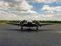 Beechcraft model on the transient ramp at chesapeake regional airport Stock Image