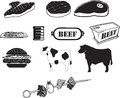 Beef B/W Icons