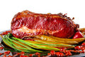 Beef bbq on black Royalty Free Stock Photo