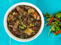 Beef and Black Bean Sauce With Red Peppers Royalty Free Stock Photo