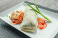 Beef burito with kimchi Stock Photo