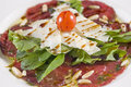 Beef carpaccio appetizer Stock Photo