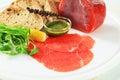 Beef Carpaccio ingredients Royalty Free Stock Photo
