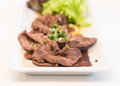 beef cooked in black sauce