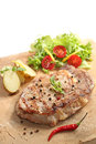 Beef cooked on a stone Royalty Free Stock Photo