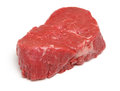 Beef fillet steak raw isolated on white Royalty Free Stock Image