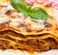 Beef Lasagna Stock Photo