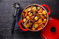 Beef meat stewed with potatoes Royalty Free Stock Photo