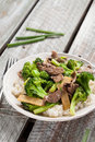 Beef N' Broccoli Stir Fry vertical shot Royalty Free Stock Photo