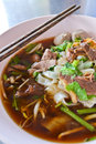 Beef noodle soup of thailand Royalty Free Stock Image