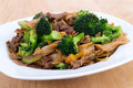 Beef Pad Sew stir fry Royalty Free Stock Photo