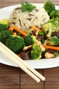 Beef with rice and veggies Stock Photography