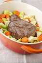 Beef roast with vegetables Royalty Free Stock Photos