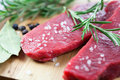 Beef with rosemary and sea salt Royalty Free Stock Image