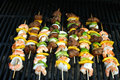 Beef and Shrimp Grilled Kabobs Royalty Free Stock Photo