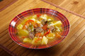 Beef soup lecho lecso hungarian which peppers and tomato Stock Images