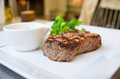 Beef steak with cream sauce Royalty Free Stock Photos