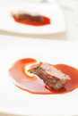 Beef steak with sauce Stock Photos