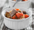 Beef stew closeup Stock Image