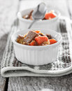 Beef stew cooling down Royalty Free Stock Photo