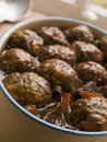 Beef Stew and Herb Dumplings Royalty Free Stock Photo