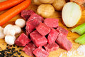 Beef Stew Ingredients Stock Images