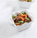 Beef stew pot roast with copy space Stock Photography