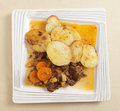 Beef stew and potatoes Royalty Free Stock Images