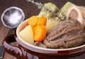 Beef stew and vegetables Royalty Free Stock Photo