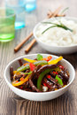 Beef stir-fry Royalty Free Stock Photo