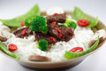 Beef stir fry close up Royalty Free Stock Photo