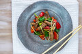 Beef stir fry Royalty Free Stock Photo