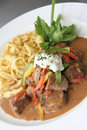 Beef Stroganoff or Beef-Stroganov Stock Photography