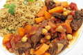 Beef tagine with couscous Royalty Free Stock Photo