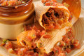 Beef tamales and salsa Royalty Free Stock Photo