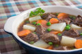 Beef & Vegetable Soup Stock Image