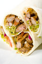 Beef Vegetable Wraps Royalty Free Stock Photo
