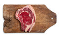 Beef on wooden table isolated clipping path Stock Image