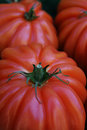 Beefsteak or Boeuf tomato on the farmers market Royalty Free Stock Photo