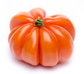 Beefsteak tomato isolated on white Royalty Free Stock Photos