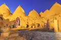 Beehive house at harran in the night turkey sanliurfa Royalty Free Stock Image