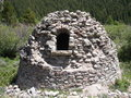 Beehive kiln used to make charcoal for silver smelting circa a photo of a producing that was then in the smelter process of mining Royalty Free Stock Photos