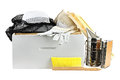 Beekeeping equipment isolated on a white background with clipping path included Stock Photos
