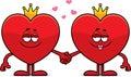 Beeldverhaalkoning en koningin van harten Stock Afbeelding