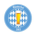 Beer abstract oktoberfest label on white background Stock Photography